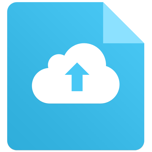 A file with a cloud and an up arrow